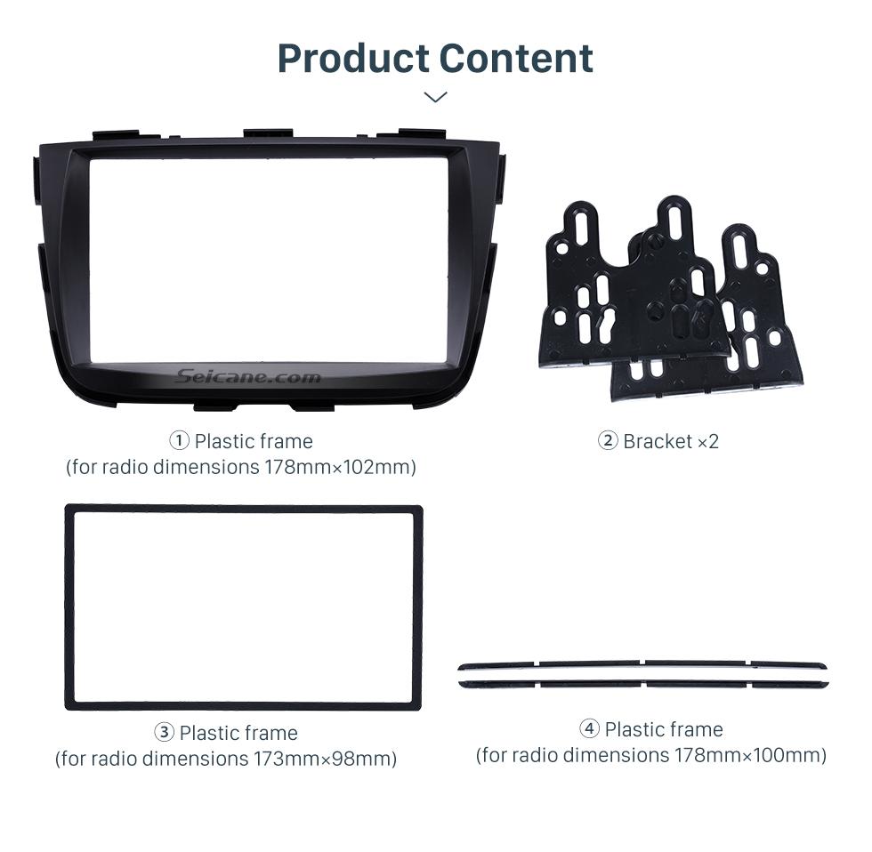 Seicane Black 2Din 2013 KIA SORENTO Car Radio Fascia DVD Player Dash Installation Kit Face Plate Panel Trim Bezel Frame
