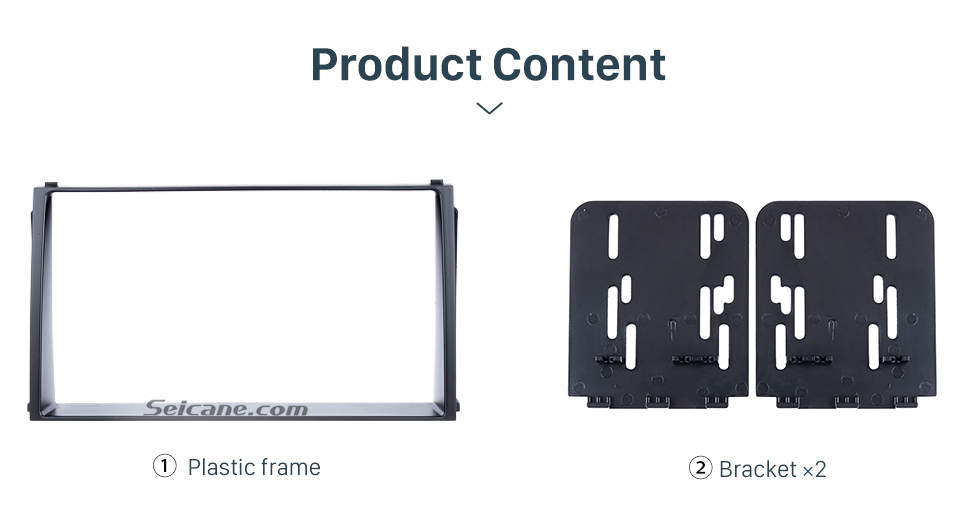 Seicane Black Double Din 2010 KIA SOUL Car Radio Fascia DVD Player Fitting Kit Installation Stereo Interface Plate Frame