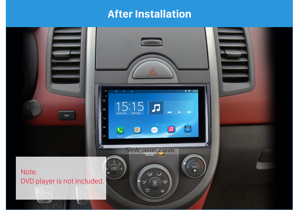 black double din 2010 kia soul car radio fascia dvd player. Black Bedroom Furniture Sets. Home Design Ideas