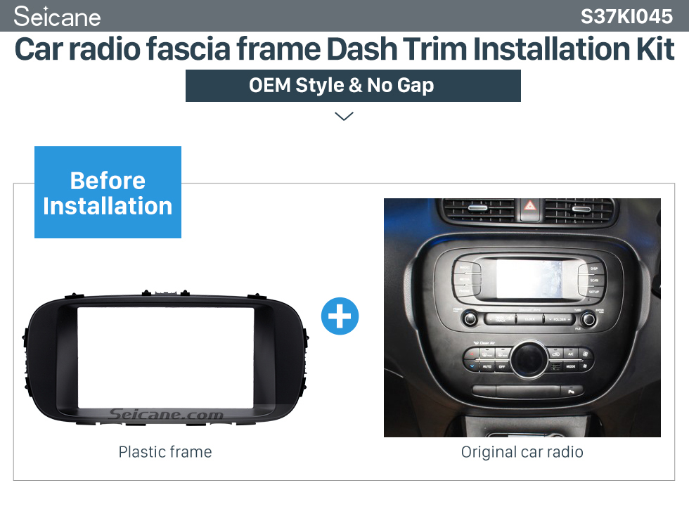 Car radio fascia frame Dash Trim Installation Kit  Black Double Din 2014 KIA SOUL Car Radio Fascia Dash Mount Kit Adapter CD Trim Panel Plate Frame