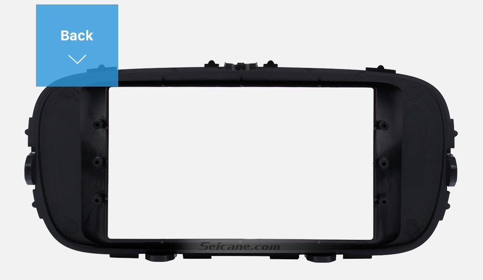 Back Black Double Din 2014 KIA SOUL Car Radio Fascia Dash Mount Kit Adapter CD Trim Panel Plate Frame