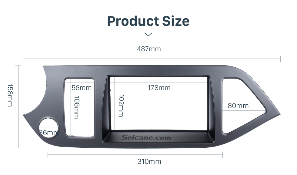 Seicane Perfect 2Din 2011 KIA MORNING PICANTO Left Hand Drive Car Radio Fascia Trim Panel Kit DVD Frame AutoStereo Interface