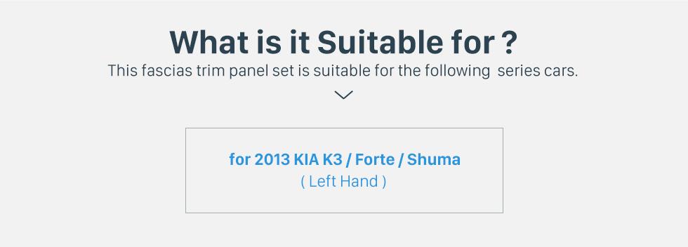 Seicane New Double Din 2013 KIA K3 Forte Shuma Left Hand Drive Car Radio Fascia Dash Trim Kits DVD Frame Dashboard Panel