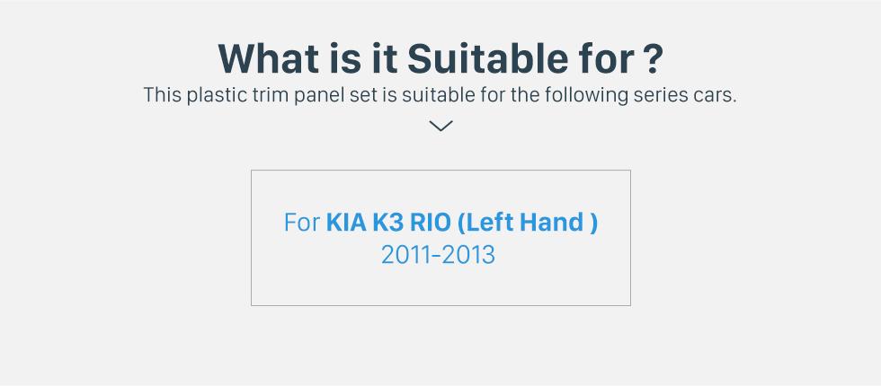 Seicane Latest Double Din 2011 2012 2013 KIA K3 RIO Left Hand Drive Car Radio Fascia Dash Kit Stereo Install Panel Plate Frame