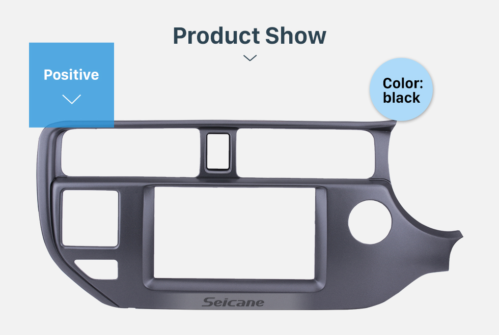 Seicane Black Double Din 2011 2012 2013 KIA K3 RIO Right Hand Drive with SRS Hole Car Radio Fascia Audio Cover Panel Frame Trim Bezel