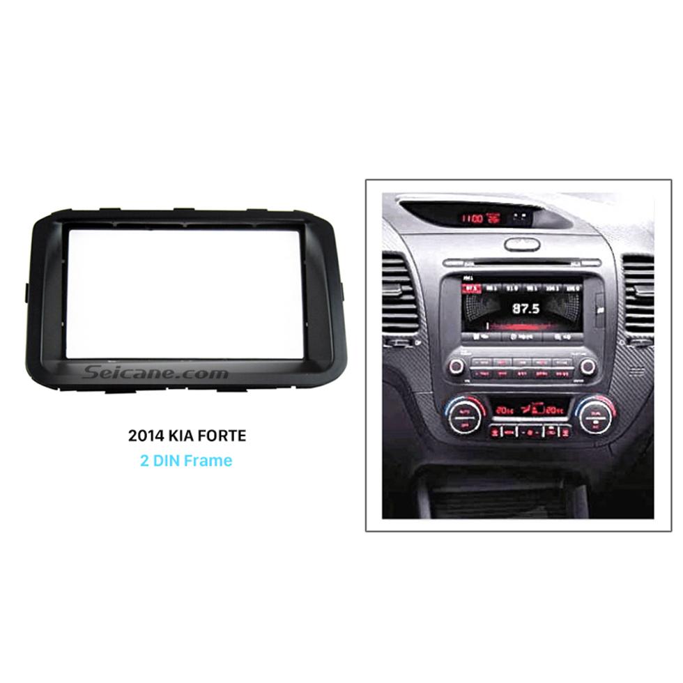 Seicane Popular Double Din 2014 KIA FORTE Car Radio Fascia Panel Plate refitting DVD frame Dash Mount Kit
