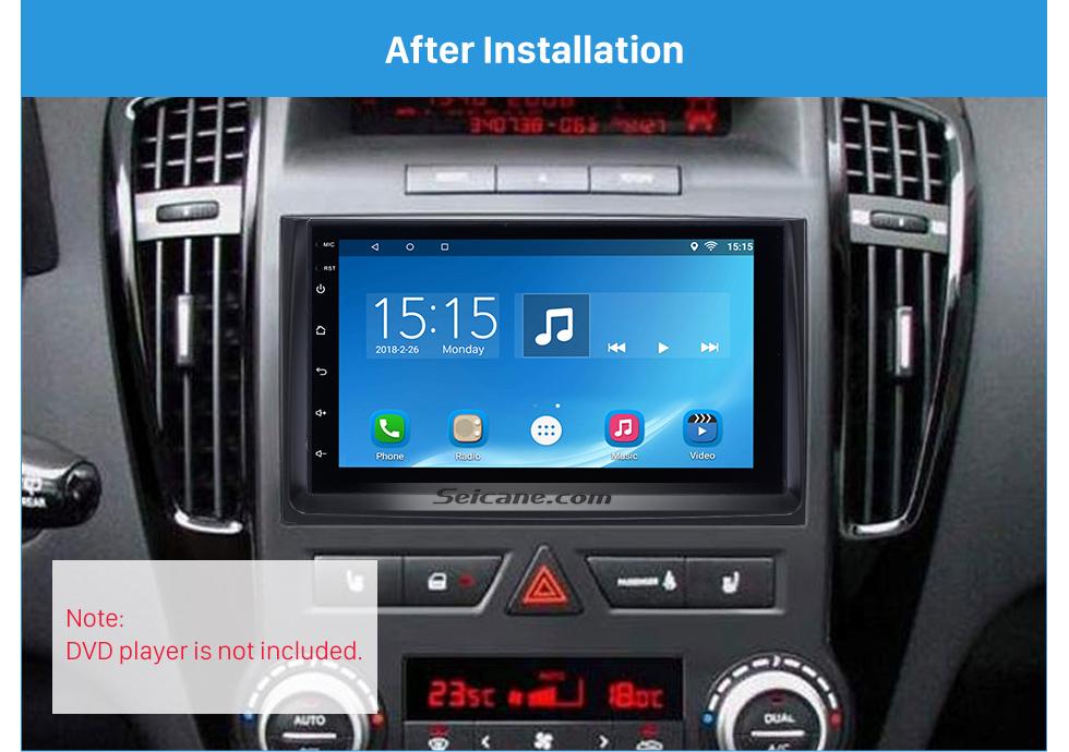 Seicane Great Double Din 2010 2011 2012 KIA CEED Car Radio Fascia DVD Gps Decorative Frame Dash Mount Surround Panel