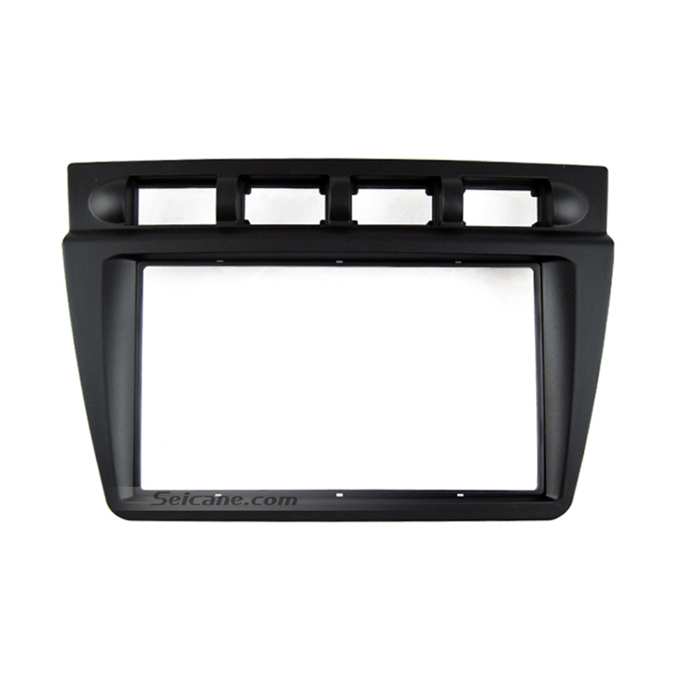 Seicane Black Double Din 2004 2005 2006 2007 2008 KIA PICANTO Car Radio Fascia Autostereo Adapter CD Trim Installation Panel Frame