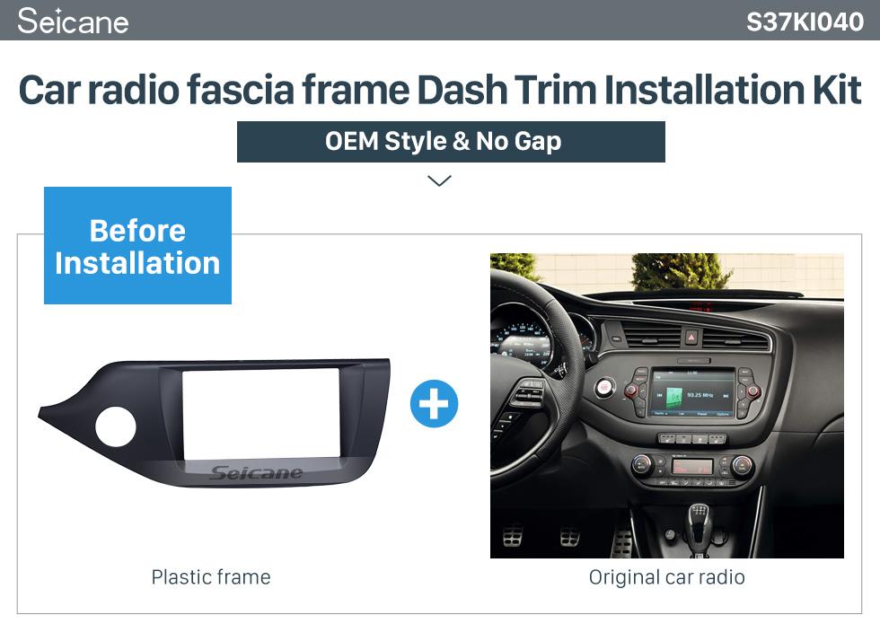 Seicane Matt Black 2Din Car Radio Fascia for 2012 2013 2014 KIA CEED Left Hand Car DVD Stereo Player Frame Panel Trim Bezel