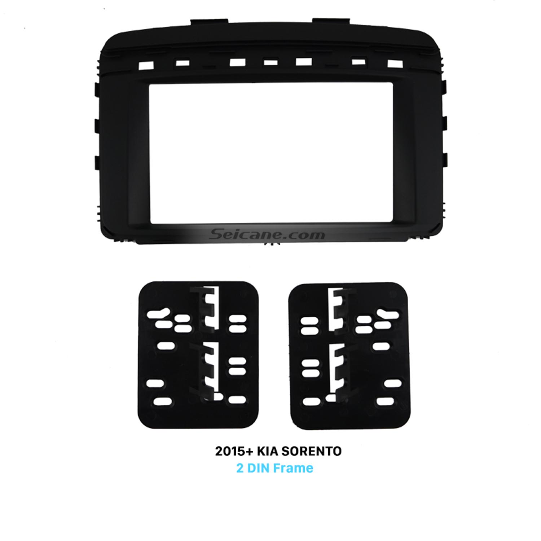 Seicane Great Double Din Car Radio Fascia for 2015+ KIA SORENTO Installation Trim Dash Kit Frame Panel Face Plate