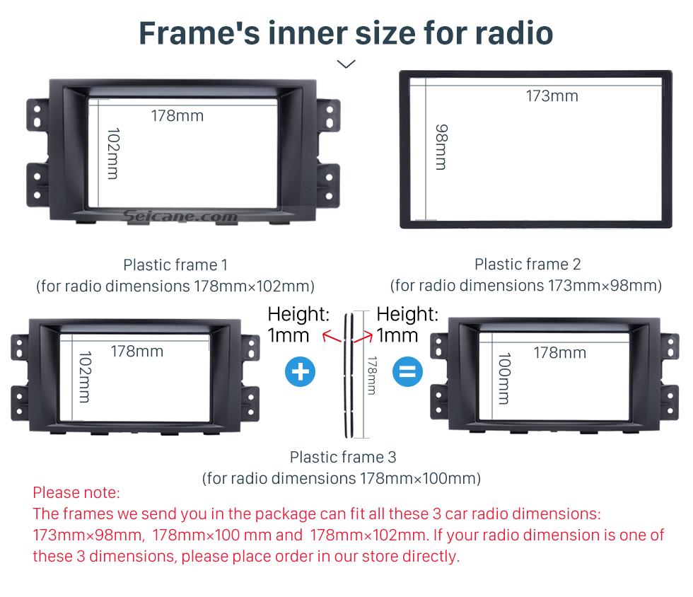 Seicane Superb Double Din Car Radio Fascia for 2008 2009 2010 2011 KIA BORREGO MOHAVE DVD Stereo Player Surround Panel Dash Frame Kit