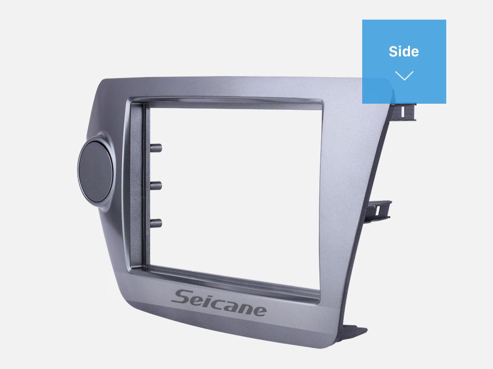 Seicane Grey Double Din Car Radio Fascia for 2011 2012 KIA Rio OPTIMA K2 Auto Stereo Interface Frame Panel CD Trim