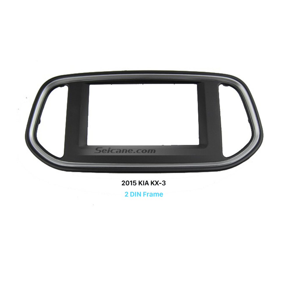 Seicane Black Double Din Car Radio Fascia for 2015 KIA KX-3 Dash Mount Kit Adapter Install Frame Surround Panel