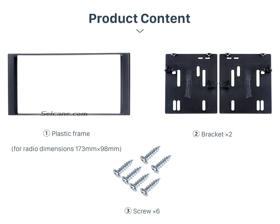 Seicane 173 * 98 mm Doble Din Radio de coche Fascia para 2008-2013 Subaru Impreza Trim Panel Kit de instalación Adaptador de montaje de marco de audio