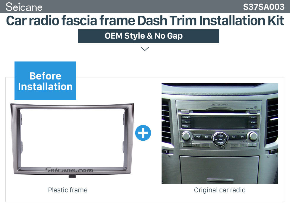 Car radio fascia frame Dash Trim Installation Kit  173*98/178*100/178*102mm Double Din Car Radio Fascia for 2010+ Subaru Legacy DVD Stereo Trim Panel Dash Mount Plate Frame