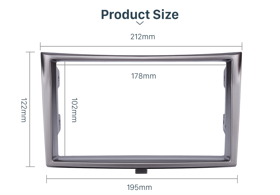 Product Size 173*98/178*100/178*102mm Double Din Car Radio Fascia for 2010+ Subaru Legacy DVD Stereo Trim Panel Dash Mount Plate Frame