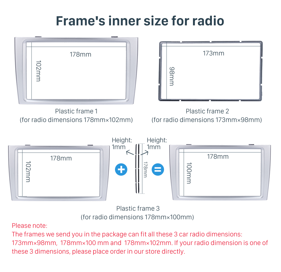 Frame's inner size for radio Classic 2 Din Car Radio Fascia for 2008+ PEUGEOT 308 Auto Stereo Interface Panel Car Styling Frame In Dash Mount Kit