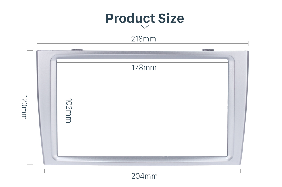 Product Size Classic 2 Din Car Radio Fascia for 2008+ PEUGEOT 308 Auto Stereo Interface Panel Car Styling Frame In Dash Mount Kit