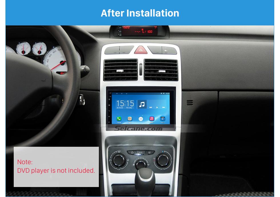 Seicane New Style 2 Din Car Radio Fascia for 2001-2008 PEUGEOT 307 Dash Mount Kit Adaptor CD Trim Panel Auto Stereo Frame
