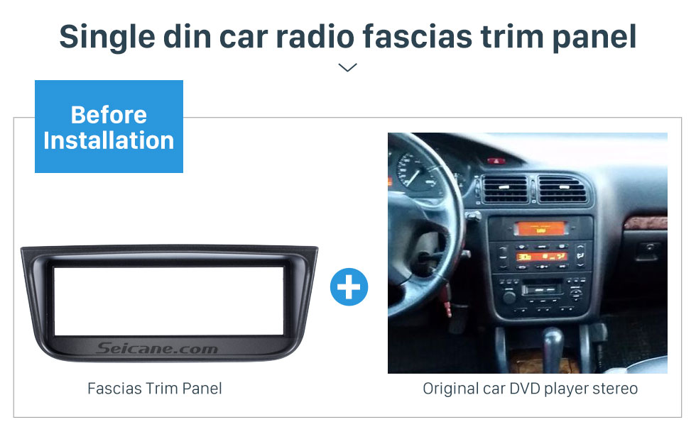Seicane OEM 1 Din Car Radio Fascia for 1995-2005 PEUGEOT 406 Car Styling Stereo Dash CD Fascia Audio Fitting Adaptor