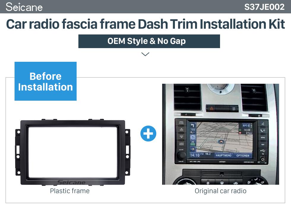 Seicane Elegant 2Din Car Radio Fascia for 2006 2007 Jeep Rubicon Compass Audio Fitting DVD Frame GPS In Dash Mount Kit
