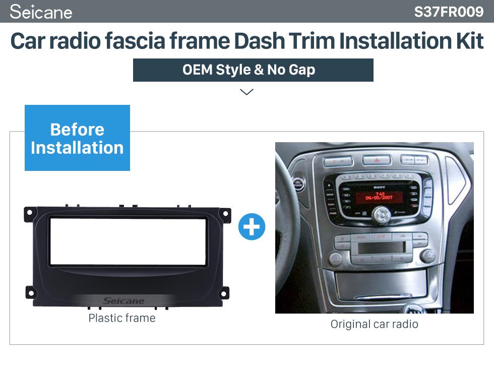 Seicane Superb 1Din Car Radio Fascia for 2007 Ford Mondeo C Max DVD Panel In Dash Mount Kit CD Trim Audio Frame