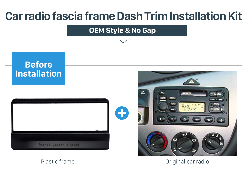 Car radio fascia frame Dash Trim Installation Kit  Great 1Din Car Radio Fascia for 1998-2000 Ford Focus DVD Frame Stereo Install In Dash Mount Kit