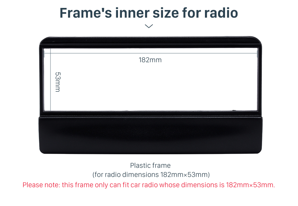 Frame's inner size for radio Great 1Din Car Radio Fascia for 1998-2000 Ford Focus DVD Frame Stereo Install In Dash Mount Kit
