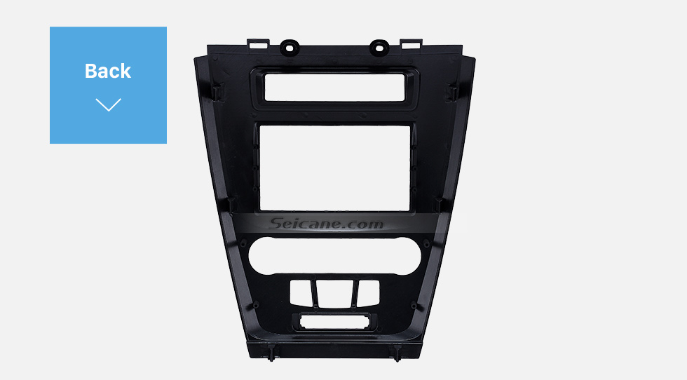 Back Black 2Din Car Radio Fascia for 2010 Ford Fusion Auto Stereo Adaptor Panel Plate Frame Dash Mount