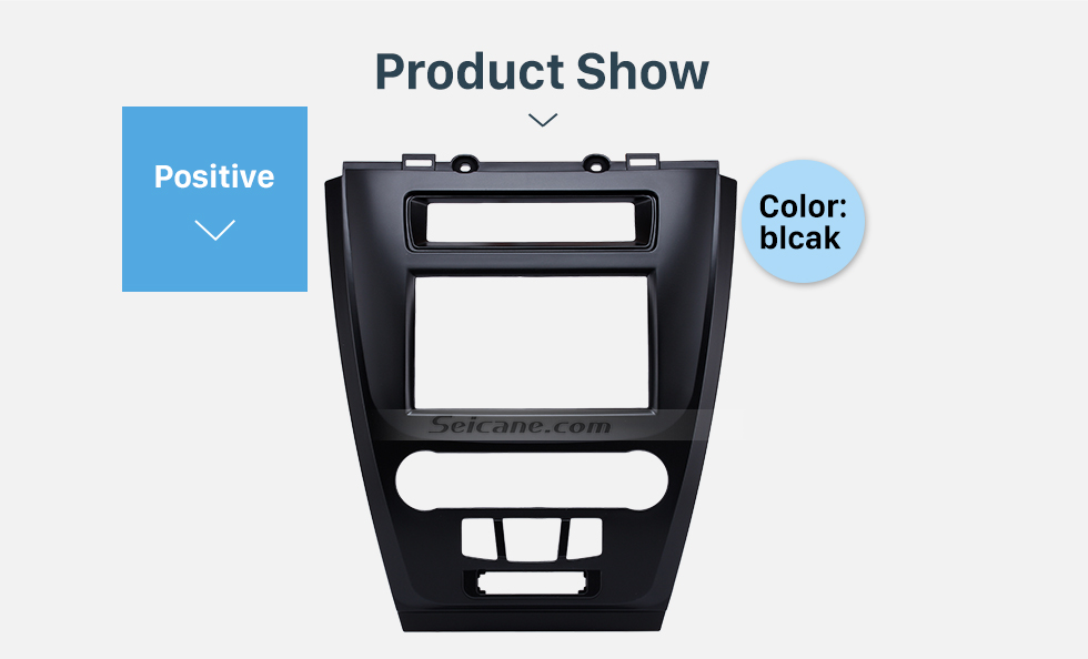 Product Show Black 2Din Car Radio Fascia for 2010 Ford Fusion Auto Stereo Adaptor Panel Plate Frame Dash Mount