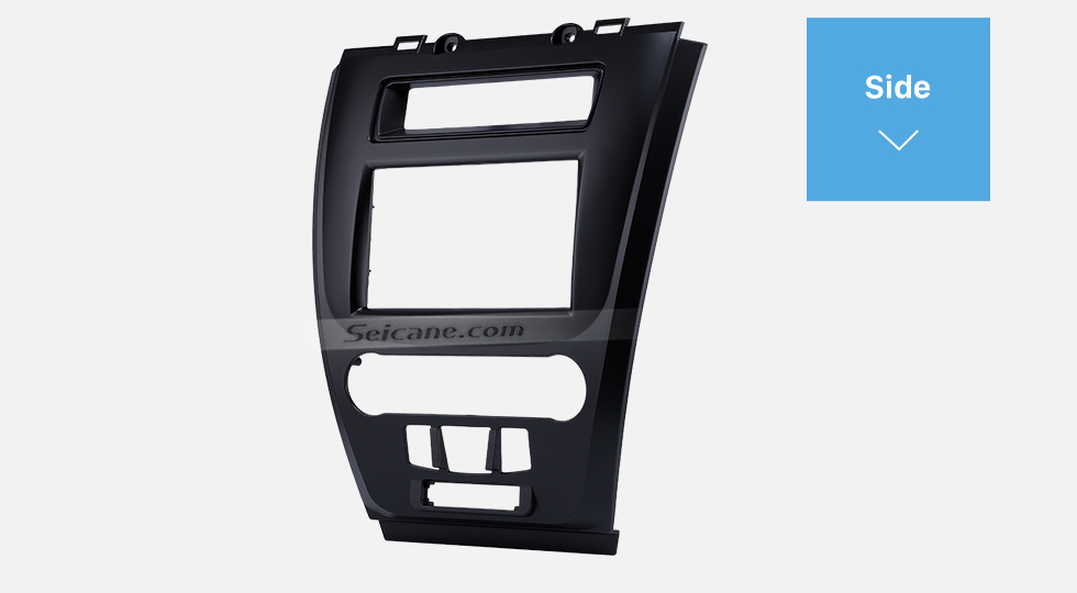 Side Black 2Din Car Radio Fascia for 2010 Ford Fusion Auto Stereo Adaptor Panel Plate Frame Dash Mount