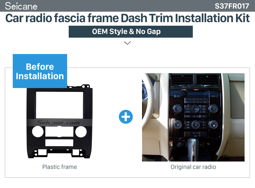 Car radio fascia frame Dash Trim Installation Kit Double Din Car Radio Fascia for 2007-2012 Ford Escape MAZDA Tribute MERCURY Mariner DVD Frame In Dash Mount Kit Trim Panel