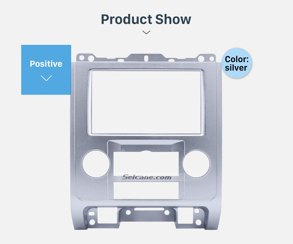 Seicane Silver 2Din Car Radio Fascia for Ford Escape MAZDA Tribute MERCURY Mariner Dash CD Installation Kit Plate Frame Audio Player