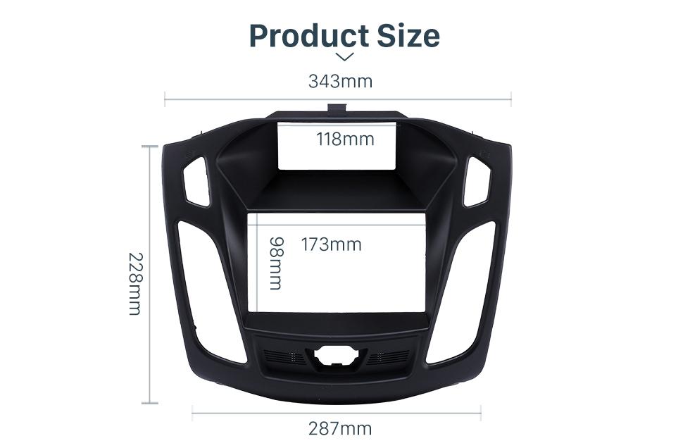 Seicane 173*98mm Double Din Car Radio Fascia for 2011 2012 2013 Ford Focus Audio Frame Installation Trim Dash Kit Panel Plate