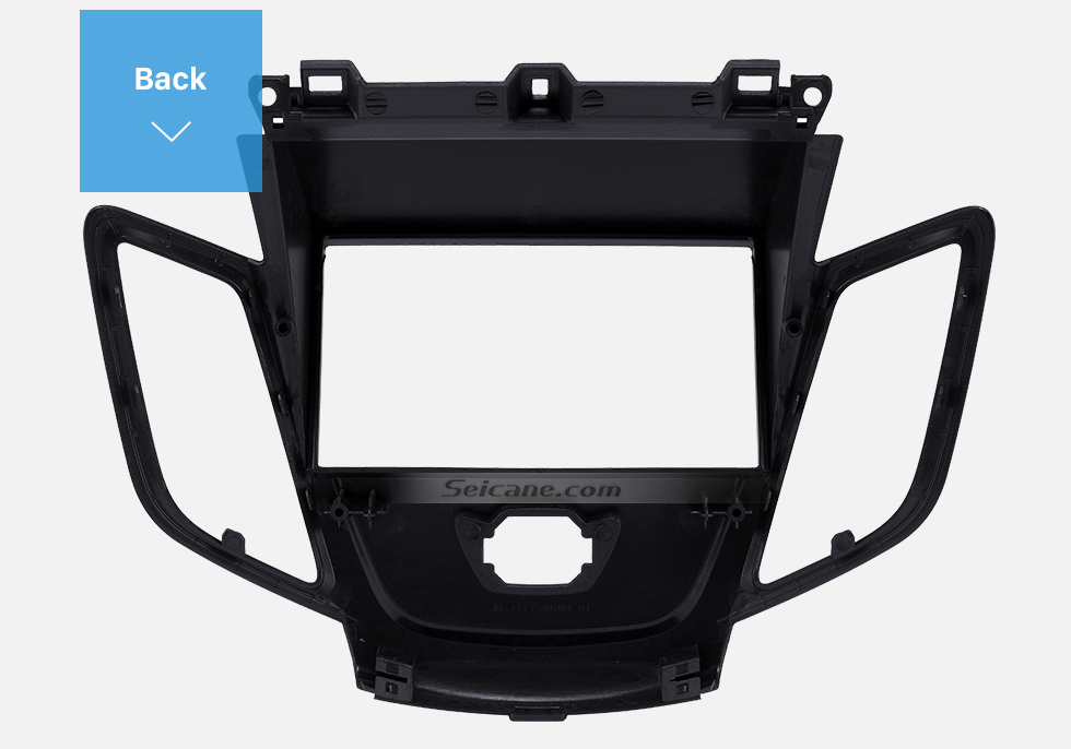 Back Black 2Din Car Radio Fascia for 2008-2011 Ford Fiesta Auto Stereo Installation Car Styling Panel Frame