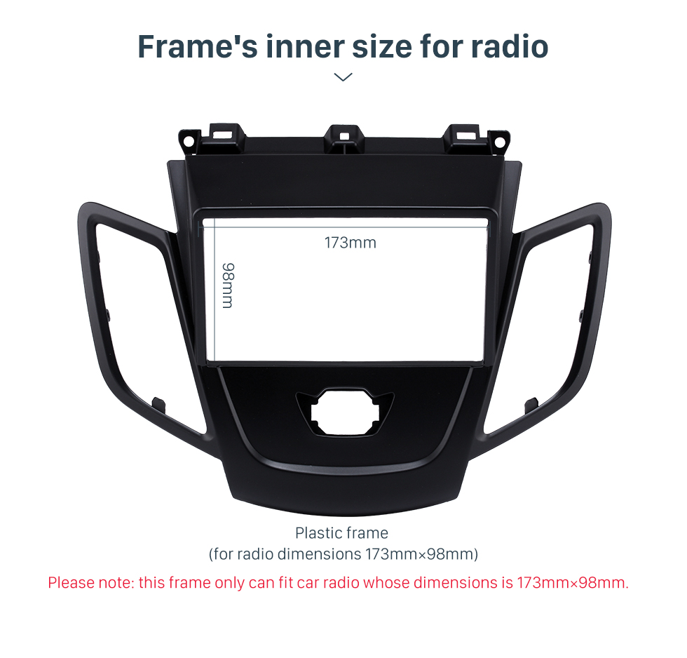 Frame's inner size for radio Black 2Din Car Radio Fascia for 2008-2011 Ford Fiesta Auto Stereo Installation Car Styling Panel Frame