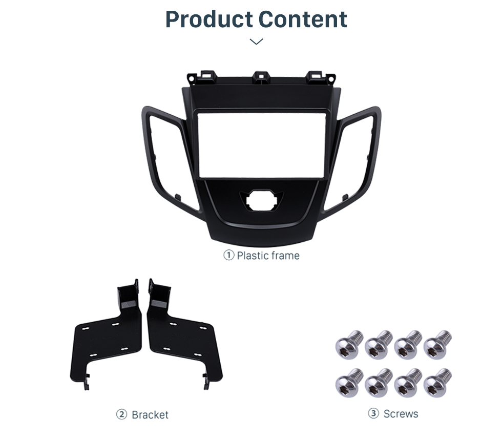 Product Content Black 2Din Car Radio Fascia for 2008-2011 Ford Fiesta Auto Stereo Installation Car Styling Panel Frame