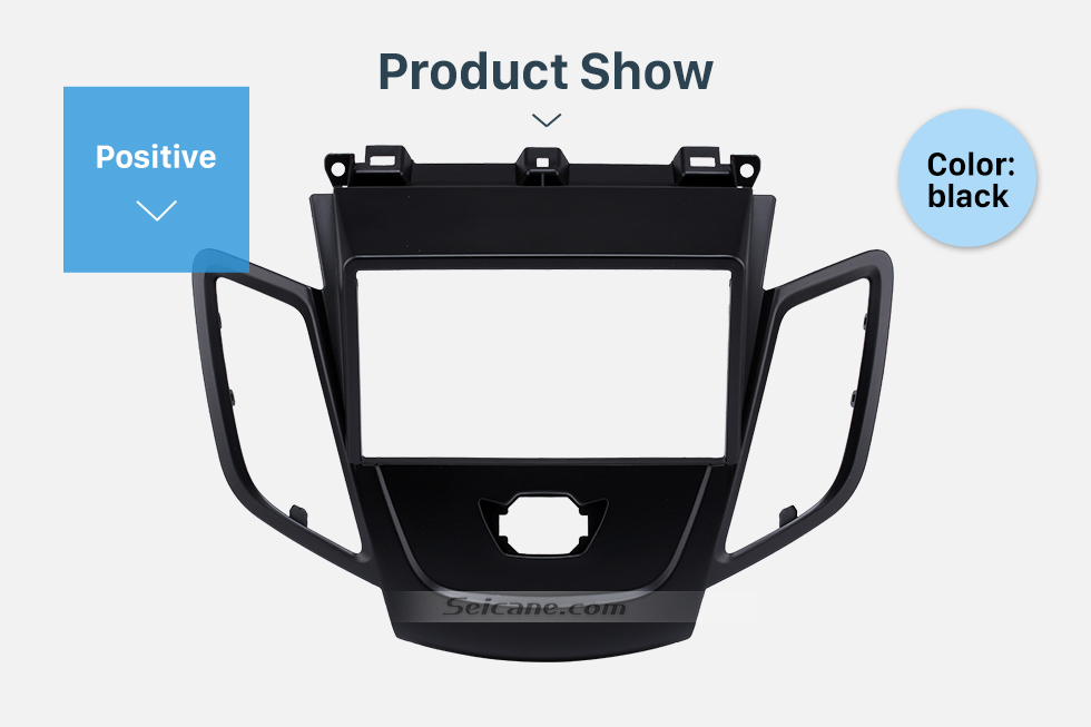 Product Show Black 2Din Car Radio Fascia for 2008-2011 Ford Fiesta Auto Stereo Installation Car Styling Panel Frame