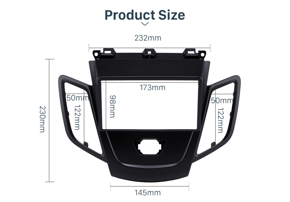 Product Size Black 2Din Car Radio Fascia for 2008-2011 Ford Fiesta Auto Stereo Installation Car Styling Panel Frame