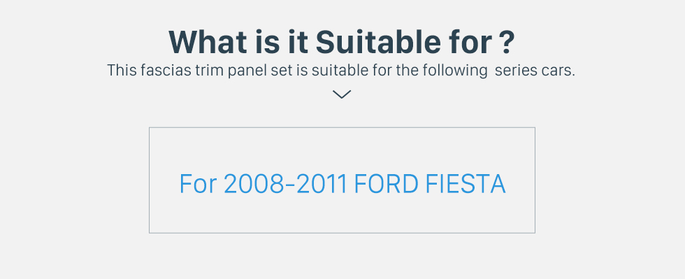 What is it Suitable for? Black 2Din Car Radio Fascia for 2008-2011 Ford Fiesta Auto Stereo Installation Car Styling Panel Frame