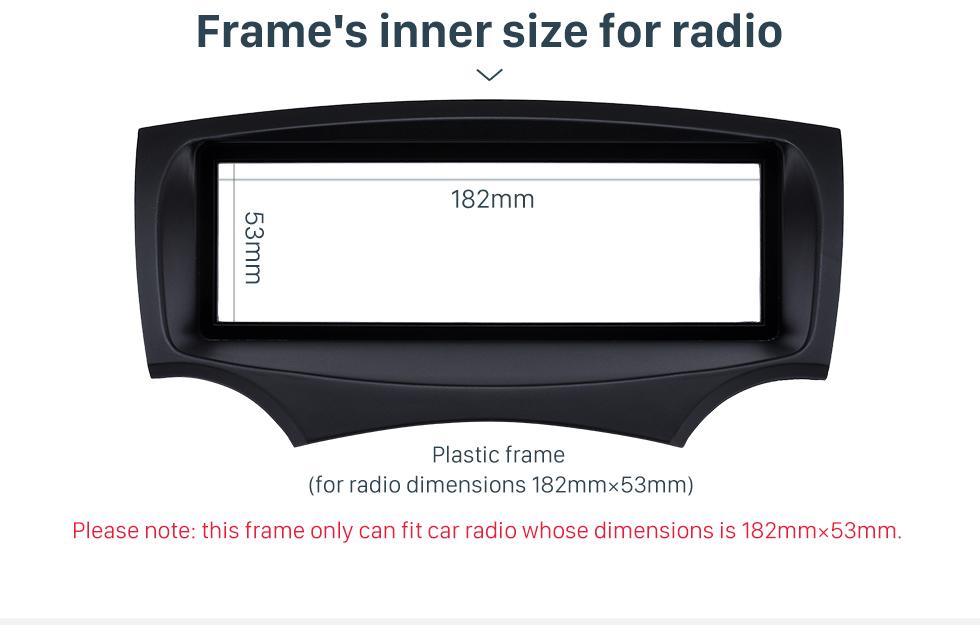 Frame's inner size for radio Well-designed 1Din Car Radio Fascia for 2008+ Ford Ka Stereo Install In Dash Mount Kit Outter Frame 182*53mm
