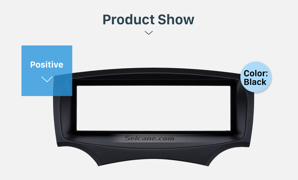 Product Show Well-designed 1Din Car Radio Fascia for 2008+ Ford Ka Stereo Install In Dash Mount Kit Outter Frame 182*53mm