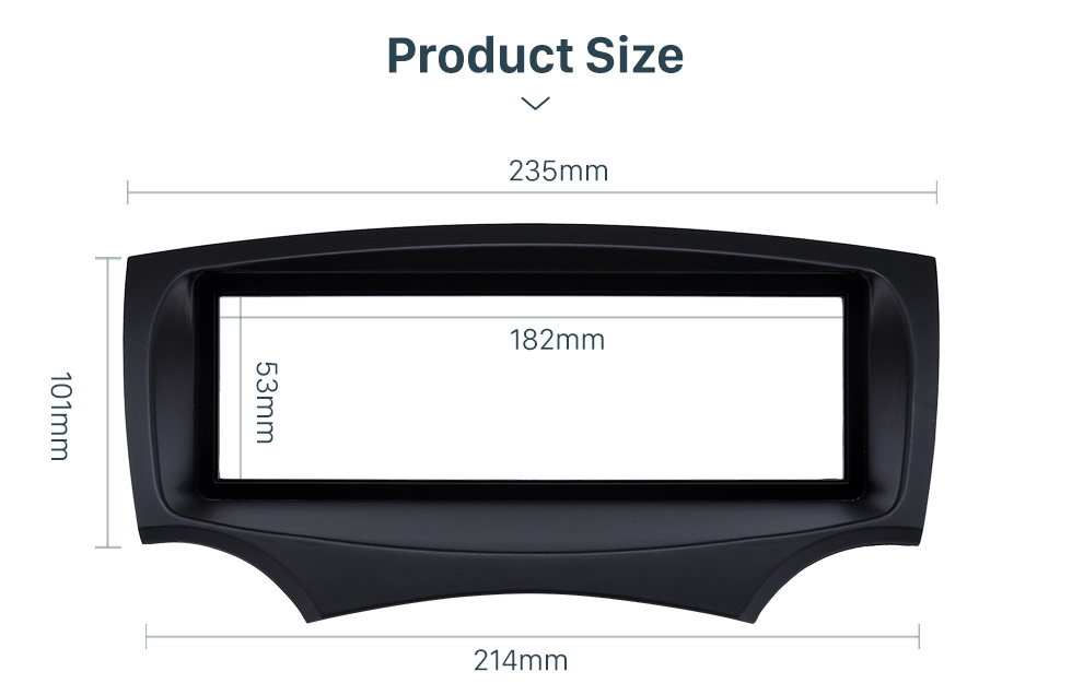 Product Size Well-designed 1Din Car Radio Fascia for 2008+ Ford Ka Stereo Install In Dash Mount Kit Outter Frame 182*53mm