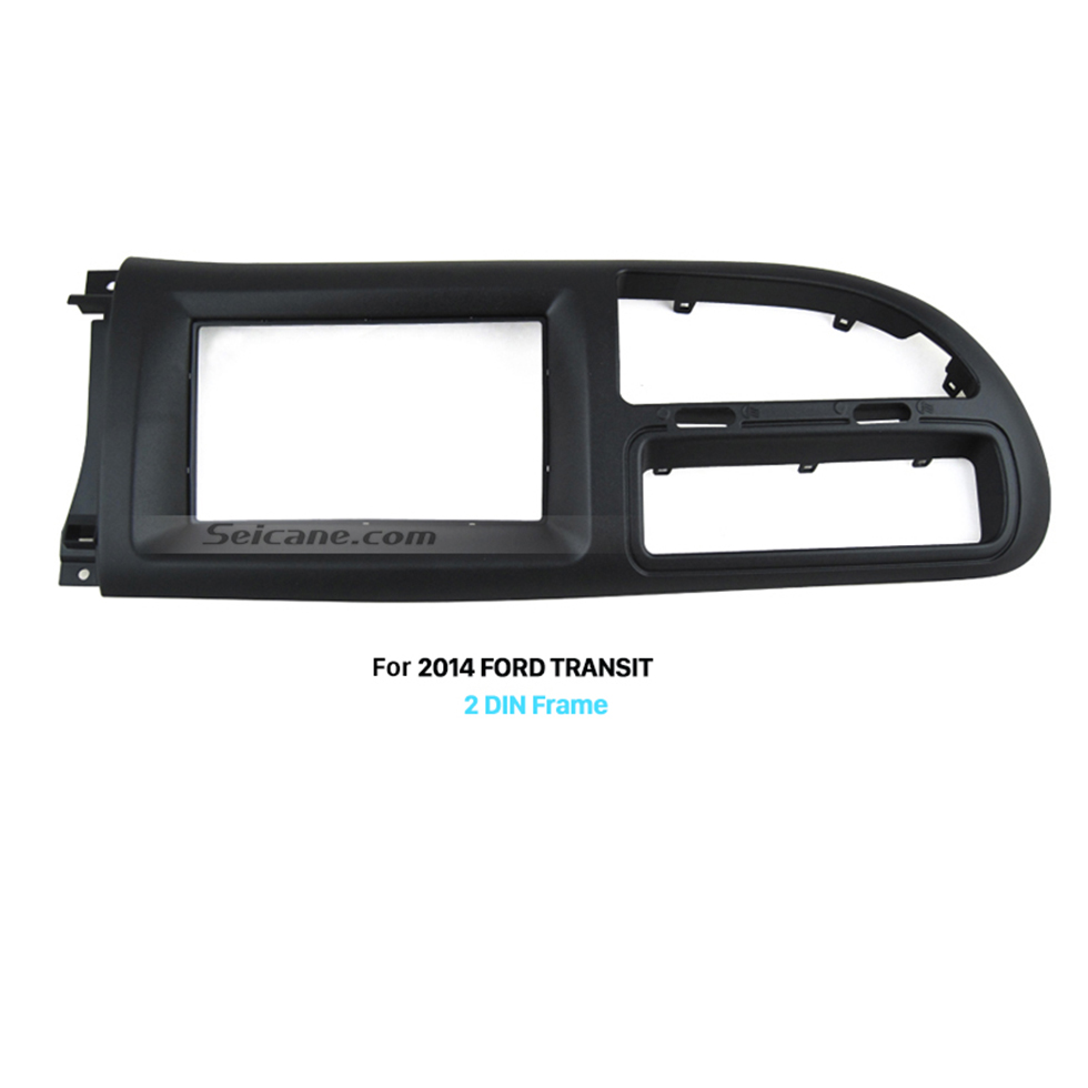 Seicane 2Din Car Radio Fascia for 2006-2013 Ford Transit Panel Plate Frame Trim Bezel DVD Player
