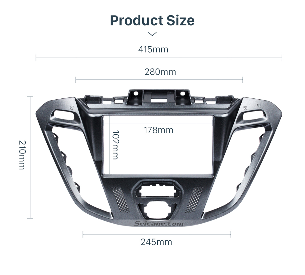 Seicane Superior 2Din Car Radio Fascia for 2013 Ford Transit Custom Stereo Plate Frame Panel Car Styling Dash Kit