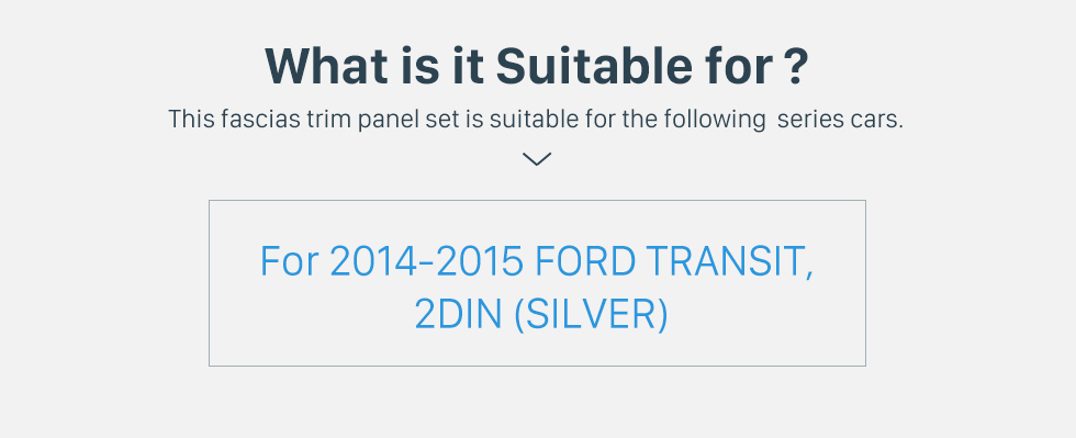 Seicane Plata Doble Din Car Radio Fascia de 2014 2015 Ford Transit soporte para tablero estéreo Instalar cubiertas salpicadero de un coche