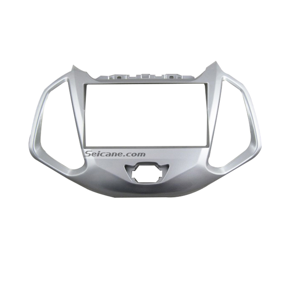 Seicane UV Silver Double Din Car Radio Fascia for 2012 Ford Ecosport Auto Stereo Adapter DVD Panel Audio Player