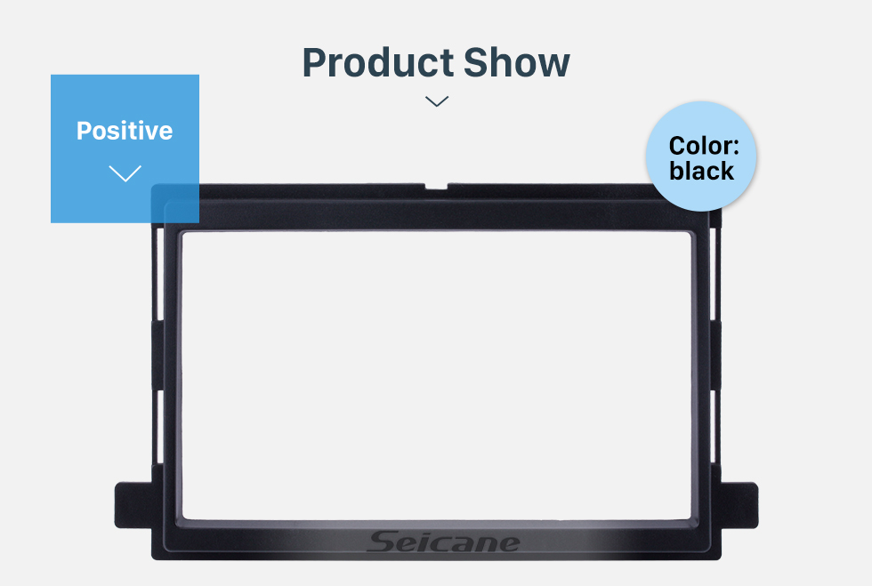 Seicane 173*98mm Double Din Car Radio Fascia for Ford Edge Expedition Explorer Focus Mustang Mercury DVD Frame Panel Autostereo Adapter Trim