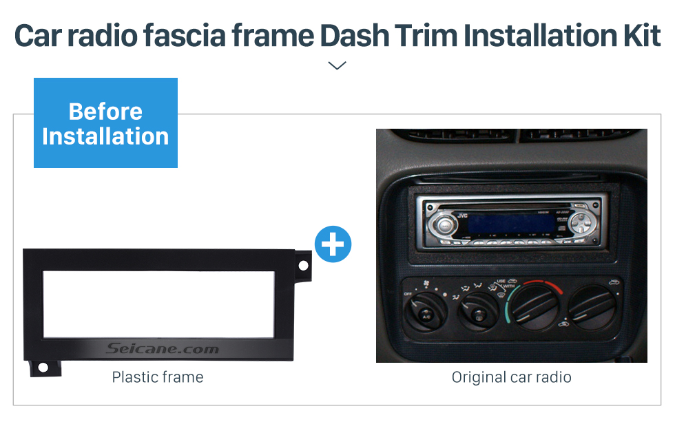 Seicane Fantastic 1Din Car Radio Fascia for Dodge CHRYSLER JEEP PLYMOUTH DVD Frame Surround Panel Trim Bezel Auto Stereo Interface