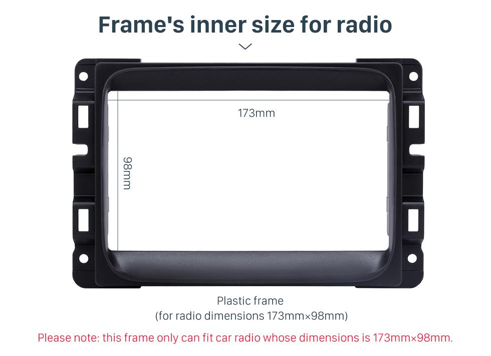 Seicane Black Double Din Car Radio Fascia for 2013 2014 2015 Dodge Ram 1500 2500 3500 Stereo Dash Install Frame DVD Player Panel Plate